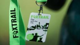 A Foxtrail lanyard strap and ID badge