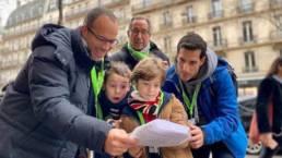 Equipe chasse au tresor à Saint Germain Paris