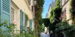 Rue Thermopyles a quiet street in Paris