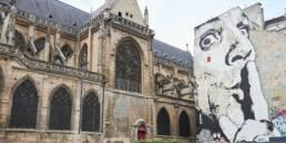 Fresque Dali Chut! et Eglise Saint Merry Paris