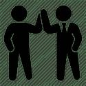 Deux hommes d'affaires image